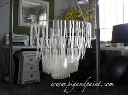 pig and paint how to make a diy capiz shell chandelier