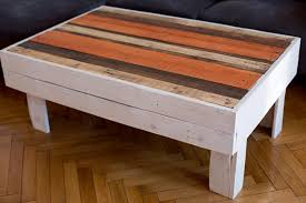 pallet coffee table with top storage space
