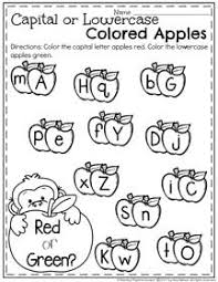draw a line to match the uppercase and lowercase letters on each