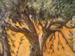 olive tree painting skiathos greece