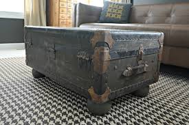 vintage trunk coffee table decor the dog trunk coffee table features osborne furniture feet