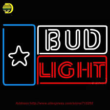 bud light neon light 2018 wholesale bud light star beer light neon sign hand craft