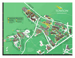 University Of Tennessee Campus Map by Campus Map And Important Information Towson Online Visitor U0027s Guide