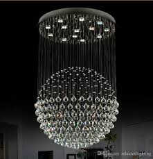 Crystal Chandelier Ball Modern Staircase Led Crystal Chandeliers Lighting Fixture For