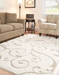 elegant cream and beige shag area rug for living room interior