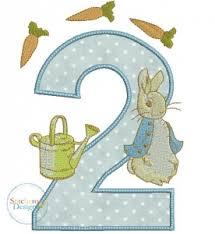 peter rabbit applique digital embroidery design