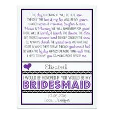 asking bridesmaids poems custom wedding bridesmaids invitation cards