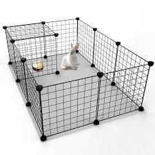 tespo pet playpen small animal cage indoor portable metal wire