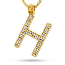 necklace letter gold images 14k gold letter quot h quot necklace gold initial pendant necklaces jpg