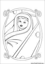 drawings paint u0026 colour barbie princess print design 003