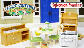Calico Critters Play Table by Sylvanian Families Calico Critters Country Kozy Kitchen Set