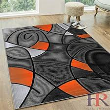 Modern Style Area Rugs Orange And Grey Area Rug Bedroom Gregorsnell Rugs Thedailygraff