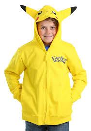 pikachu costume pikachu costume hooded sweatshirt for boys