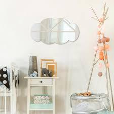 grand miroir chambre miroir enfant nuage simple