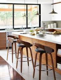 Bar Stool For Kitchen Black Leather Bar Stool With Back Walnut Wood Article Sede