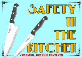 Knives For Kitchen Use Kitchen Knife Safety Work Carefully Signs Seton 91822 001 Lg