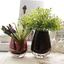 popular colored glass flower vases buy cheap colored glass flower