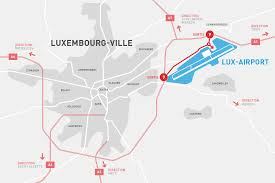 London Airports Map How To Get To Luxembourg Airport Luxembourg Airport