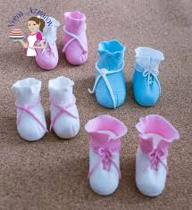 shoe cake topper baby booties baby shoes cake toppers no cutters no templates