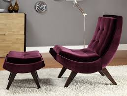 Purple Chaise Lounge Rich Purple Velvet Lounge Chair U0026 Ottoman Hupehome