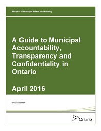 guide to municipal accountability transparency and