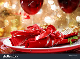 decorated christmas dinner table setting stock photo 119686234 decorated christmas dinner table setting