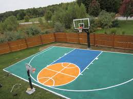 Backyard Basketball Court Ideas by There U0027s Aerial View Of The Half Court And Pro Dunk Platinum