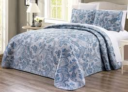 king size coverlets and quilts 3 piece oversized blue paisley quilt set king size reversible