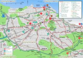 Pennsylvania Attractions Map by Edinburgh Map Greater Edinburgh Tourist Information Guide Map Of