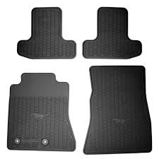 Weather Rugs Ford Fr3z 6313300 Ba Mustang Black Rubber Floor Mats Lhd 2015 2017
