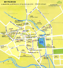 Sw Asia Map by China Kashgar Maps Xinjiang Sightseeing Sketch Tourist Sites