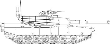 clipart m1 abrams main battle tank