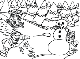 coloring pages about winter winter scene coloring pages winter scene coloring page winter scene