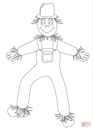 funny scarecrow coloring page free printable coloring pages