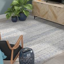 mistana ponce medium gray bright blue area rug u0026 reviews wayfair