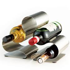 modern kitchen gadgets oslo 6 bottle stainless steel wine rack beyond the rack love