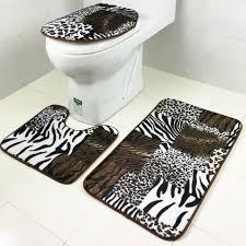 Leopard Bathroom Rugs Bathroom Leopard Bathroom 9 3 Pcs Set Tiger Font B Leopard B