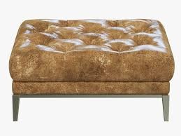 Chesterfield Leather Sofa by Restoration Hardware Italia Chesterfield Leather Ottoman 3d Model