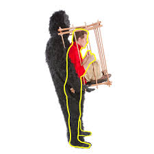 gorilla halloween mask get me outta this cage halloween costume the green head