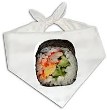 bandana cuisine amazon com sushi roll bandana one size fits most