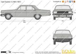 opel car 1965 the blueprints com vector drawing opel kapitan a