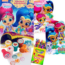 nickelodeon coloring book amazon com shimmer and shine coloring book and board books set