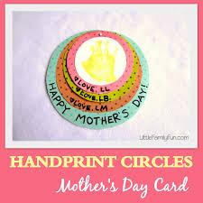 little family fun handprint circles mother u0027s day card
