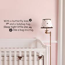 Ladybug Home Decor Wall Decal Butterfly Ladybug Hug Quote Vinyl Decal Home