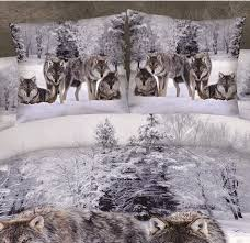 Wolf Bedding Set S V 100 Cotton Bedding Set 3d Wolves Bed Sets Character Duvet
