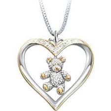 granddaughter necklace granddaughter i you teddy heart necklace findgift