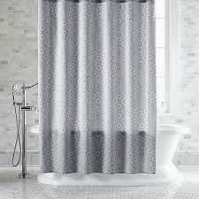 Light Gray Curtains by Bathroom Grey Grey Shower Curtain With Teak Stol And Wooden Floor