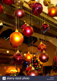 hanging ceiling decorations coloured glass baubles christmas decorations hanging from