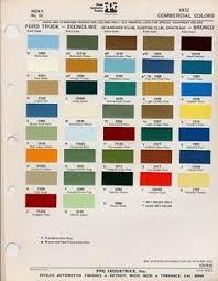 1964 el camino color chart just el camino u0027s pinterest color