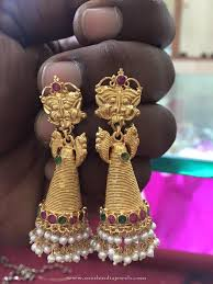 big jhumka gold earrings 210 best antique earrings images on indian jewelry